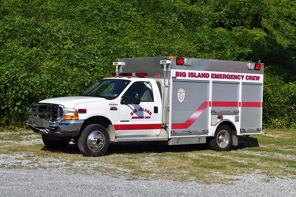 Crash 2 from Big Island Emergency Crew is a 2000 Ford F-550/M&W.