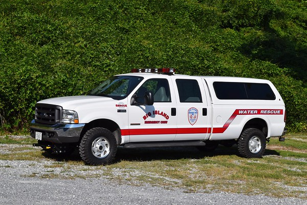 Rescue 2 is a 2004 Ford F-350.  Primarily used to carry water rescue equipment.