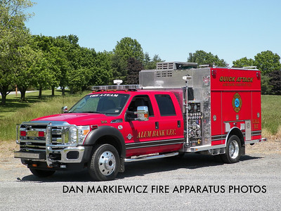 ALUM BANK COMMUNITY FIRE CO. ATTACK 38-88 2011 FORD/ROSENABUER MINI PUMPER