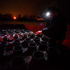 KRISTOPHER RADDER - BRATTLEBORO REFORMER<br /> Richard Pitontyak, a pyrotechnic for Northstar Fireworks, secures the mortar tubs for the New Year's Eve firework show over the Retreat Meadows in Brattleboro, Vt., on Saturday, Dec. 31, 2016.