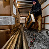 KRISTOPHER RADDER - BRATTLEBORO REFORMER<br /> Richard Pitontyak, a pyrotechnic for Northstar Fireworks, cleans the mortar tubs before setting them up for the New Year's Eve firework show over the Retreat Meadows in Brattleboro, Vt., on Saturday, Dec. 31, 2016.