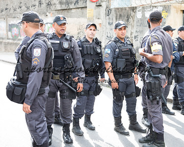 Increased police presence prior to the match.