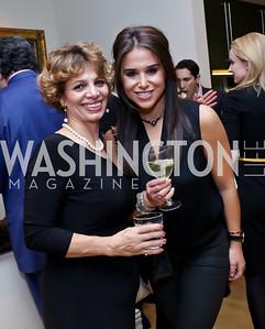 Forooz Emami, Anastasia Theoharis. Photo by Tony Powell. Berim Fellows Program. Hendi Residence. November 21, 2014