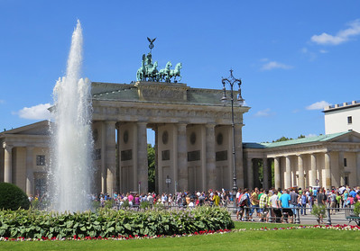 The Brandenburg Gate  - 1791 - the last of the 14 gates in Berlin's old city wall