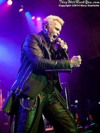 Billy Idol performs at the Casino Ballroom on June 3, 2014