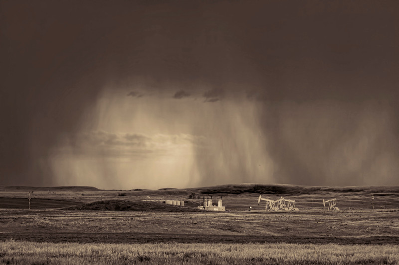 Storms behind the wells