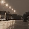Washburn Main Street at night
