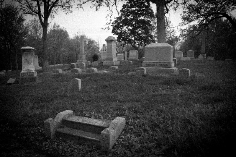 Black & White Photo Gallery by Chris Sopher Peoria, IL- springdale cemetery peoria, il
