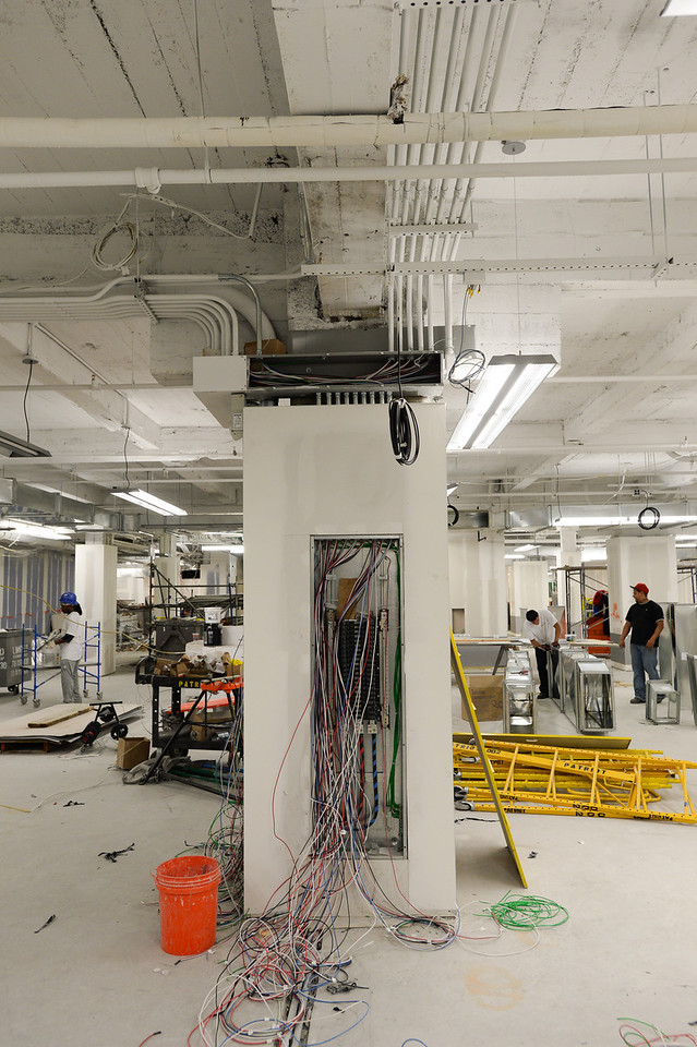 Work being performed at Blink Fitness 1065 Avenue of the Americas Basement