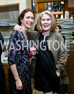 "Carlotta Hester, Deborah Richards. Photo by Tony Powell. Bob Colacello ""Holy Terror"" book party. Central. April 2, 2014"