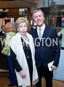 "Ina and Mark Ginsburg. Photo by Tony Powell. Bob Colacello ""Holy Terror"" book party. Central. April 2, 2014"