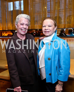 "Carolyn Peachey, Ruthie Leffall. Photo by Tony Powell. Bob Colacello ""Holy Terror"" book party. Central. April 2, 2014"