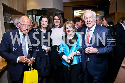 "Arnaud and Alexandra de Borchgrave, Jackie Duberstein, Ann and Lloyd Hand. Photo by Tony Powell. Bob Colacello ""Holy Terror"" book party. Central. April 2, 2014"