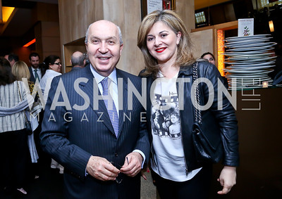 "Lebanese Amb. Antoine Chedid and Nicole Chedid. Photo by Tony Powell. Bob Colacello ""Holy Terror"" book party. Central. April 2, 2014"