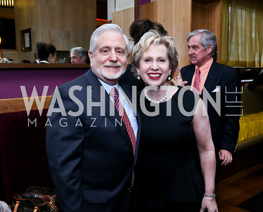 "Jim Gale and Lisa Barry. Photo by Tony Powell. Bob Colacello ""Holy Terror"" book party. Central. April 2, 2014"