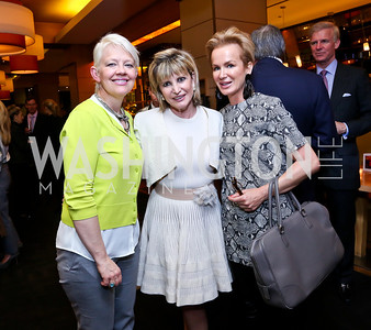 "Portrait Gallery Director Kim Sajet, Dr. Tina Alster, Fabiola Martens. Photo by Tony Powell. Bob Colacello ""Holy Terror"" book party. Central. April 2, 2014"