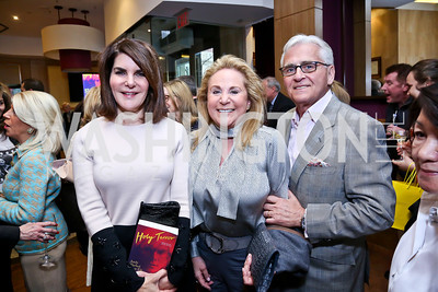 "Jackie Duberstein, Diana and Israel Kogan. Photo by Tony Powell. Bob Colacello ""Holy Terror"" book party. Central. April 2, 2014"