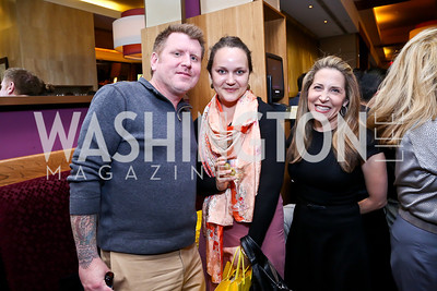 "Christian Josi, Amanda France, Jessica Yellin. Photo by Tony Powell. Bob Colacello ""Holy Terror"" book party. Central. April 2, 2014"