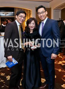 Edward Han, Nancy Lee, Robert Lee. Photo by Tony Powell. ICON 14 Dinner and Talent Showcase. Ritz Carlton. November 17, 2014