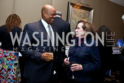 Wayne Johnson, Patti Sowalsky. Photo by Tony Powell. ICON 14 Dinner and Talent Showcase. Ritz Carlton. November 17, 2014