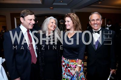 Cary Pollak, Barbara Hawthorn, Jennifer Stoker, Joe Farruggio. Photo by Tony Powell. ICON 14 Dinner and Talent Showcase. Ritz Carlton. November 17, 2014
