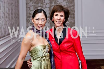 Cellist Sharon Lee, Patty Andringa. Photo by Tony Powell. ICON 14 Dinner and Talent Showcase. Ritz Carlton. November 17, 2014