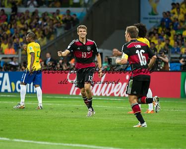 German players celebrate a goal