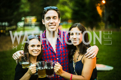 Amanda D'Amico, Bill Fox, Lindsay Scholtz, Brew at the Zoo, at the National Zoo, Thursday, July 17, 2014, Photo by Ben Droz