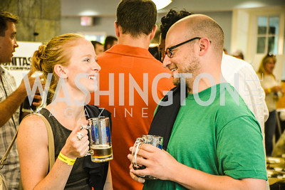 Mackenzie Emis, Michael McVay,  Brew at the Zoo, at the National Zoo, Thursday, July 17, 2014, Photo by Ben Droz