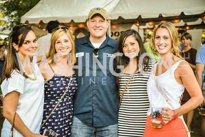 Caitlin Whiteman, Nicole Romanies, Chad Droz, Amy Nguyen, Kaylen Dixon,Brew at the Zoo, at the National Zoo, Thursday, July 17, 2014, Photo by Ben Droz