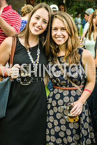 Lauren Blodgett, Bridgette Behling,  Brew at the Zoo, at the National Zoo, Thursday, July 17, 2014, Photo by Ben Droz