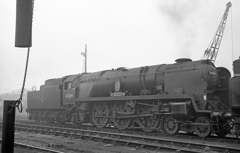 34089 602 Squadron, Exmouth Junction Shed, Exeter, October 27, 1963.