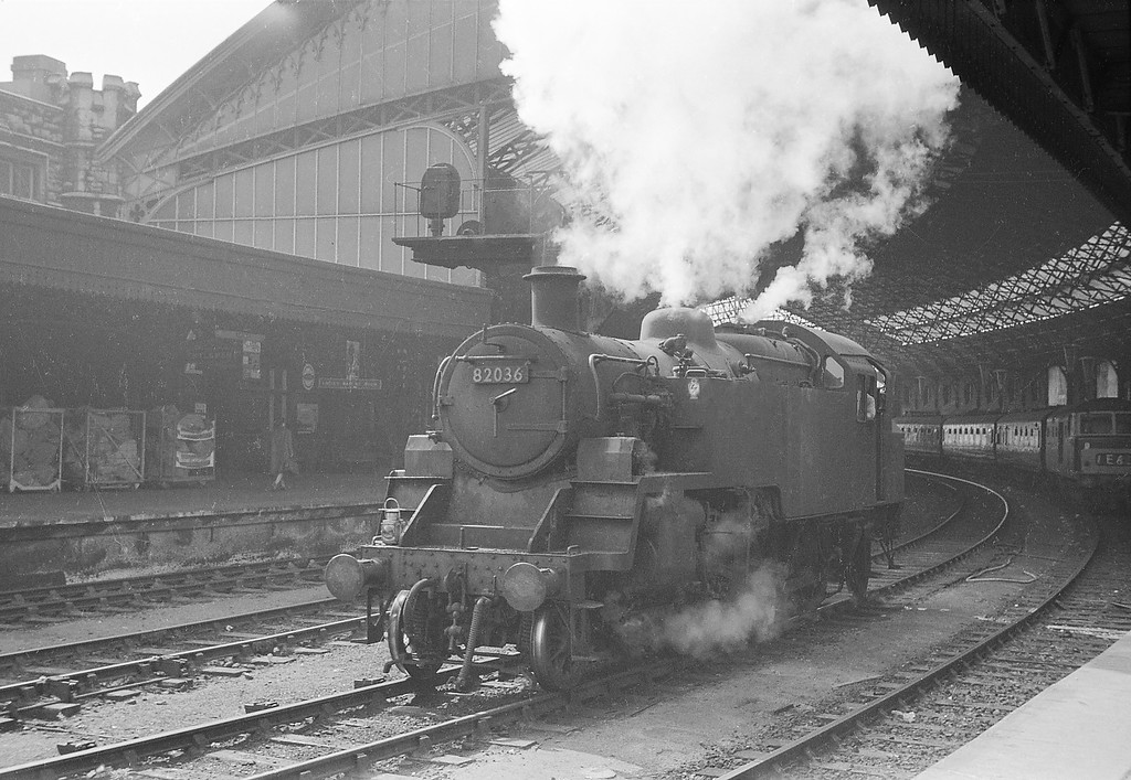 82036, up light, Bristol Temple Meads, September 14, 1963.