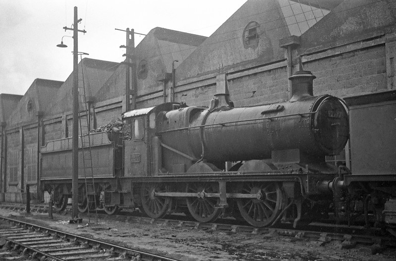 2277, Exmouth Junction Shed, Exeter, winter, 1963.