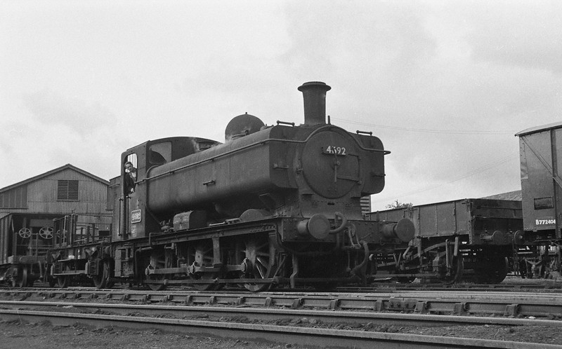 4692, shunting, Exmouth Junction, Exeter, 1963.