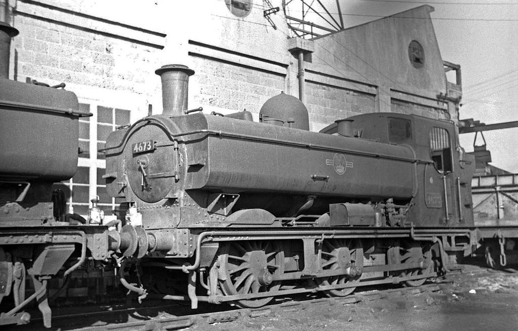 4673, Exmouth Junction Shed, Exeter, autumn, 1963.