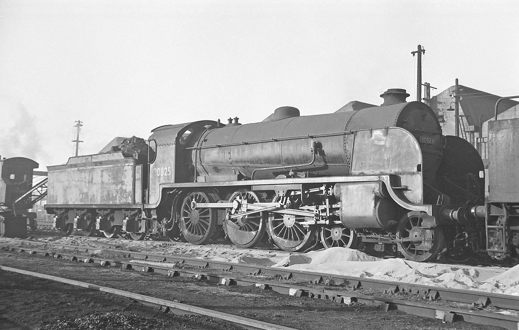 30825, Exmouth Junction Shed, Exeter, 1963.