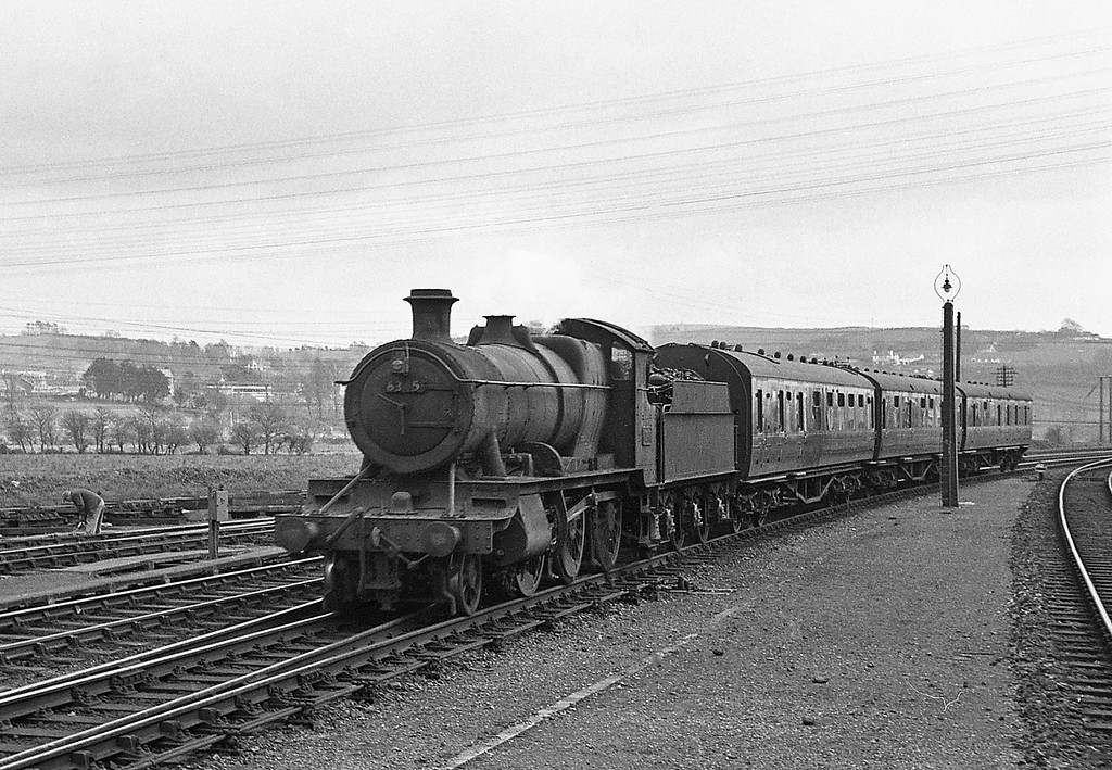 6345, Taunton-Barnstaple Junction, Barnstaple Junction, April 7, 1964.