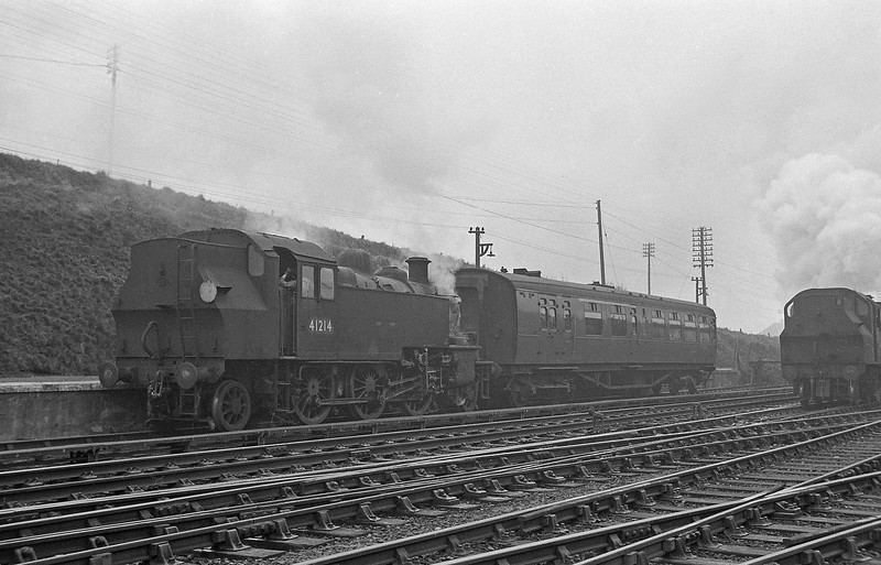 41214, Halwill Junction-Torrington, Halwill Junction, April 7, 1964.