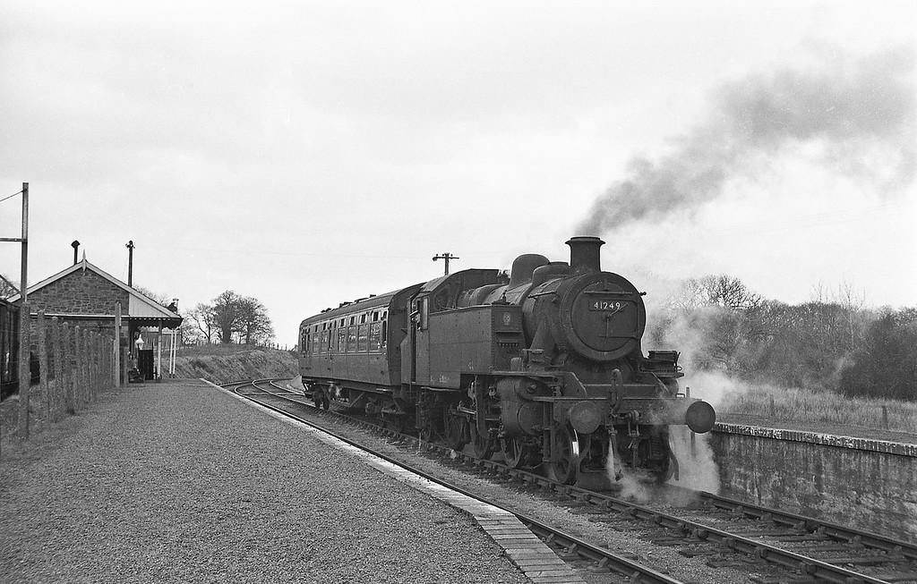 41249, Torrington-Halwill Junction, Hole (for Black Torrington) Station, April 7, 1964.