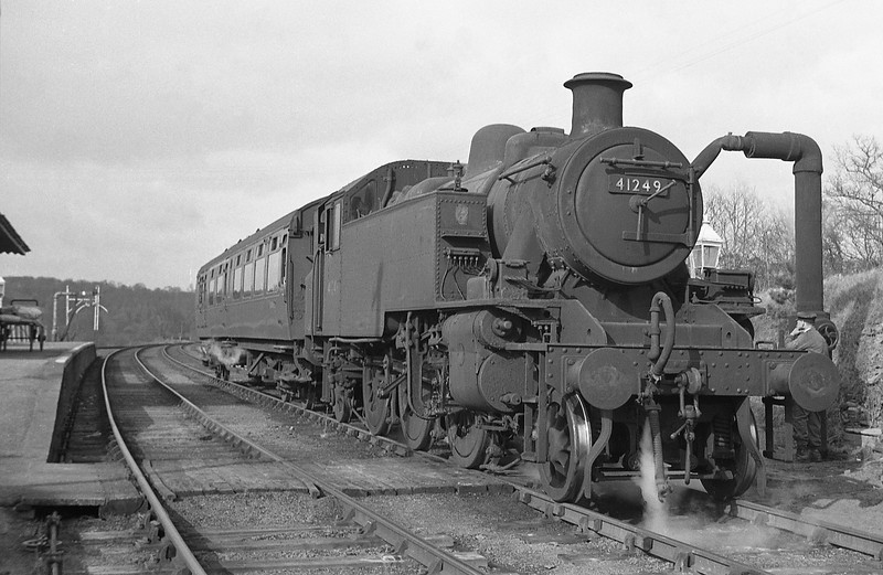 41249, Torrington-Halwill Junction, Hatherleigh Station, April 7, 1964.