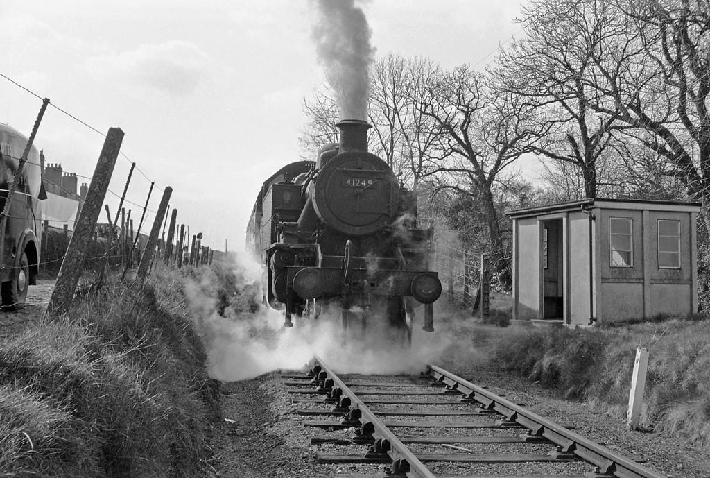 41249, Torrington-Halwill Junction, Yarde Halt, April 7, 1964.