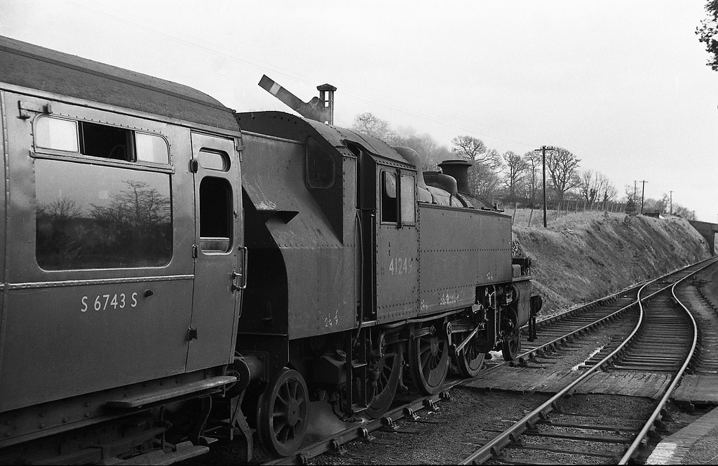 41249, Torrington-Halwill Junction, Petrockstow Station, April 7, 1964.