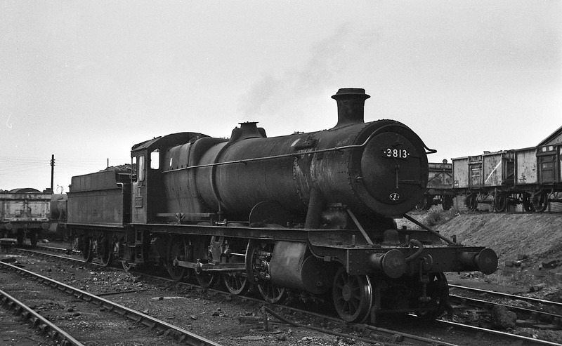 3813, Croes Newydd Shed, Wrexham, August 14, 1965.