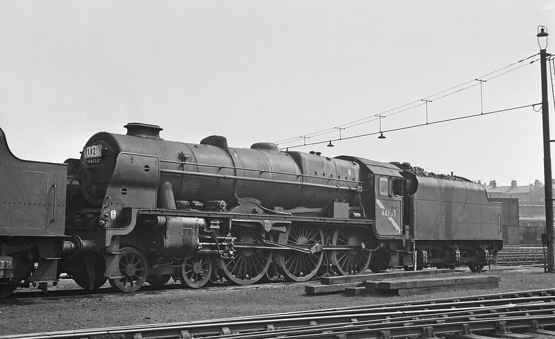 46155 The Lancer, Liverpool Bank Hall Shed, August 16, 1964.