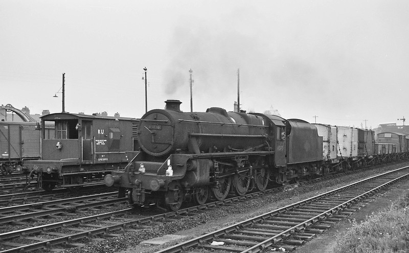45130, northbound freight, Wrexham, August 14, 1964.
