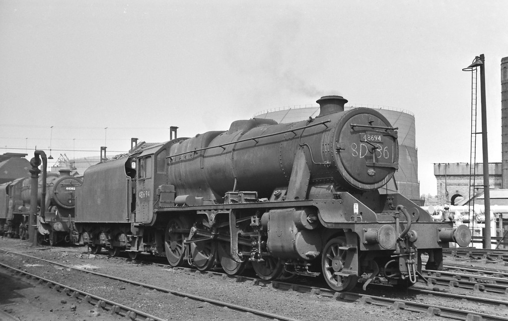 48694 and 48302, Birkenhead Shed, Sunday August 16, 1964.