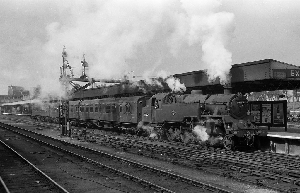 80059, up stopper, Exeter Central, spring, 1964.