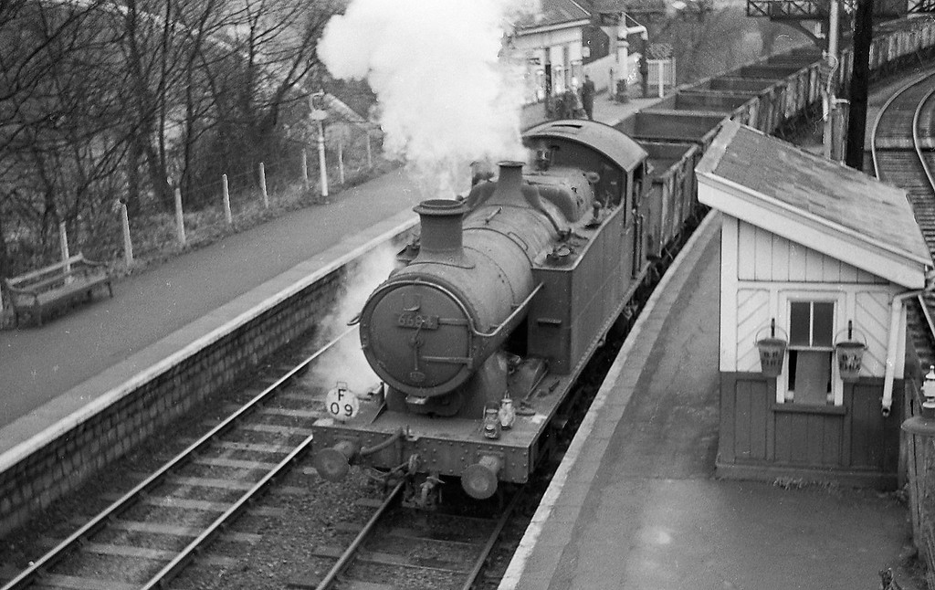 6684, down coal empties, Radyr,  January 1, 1964.