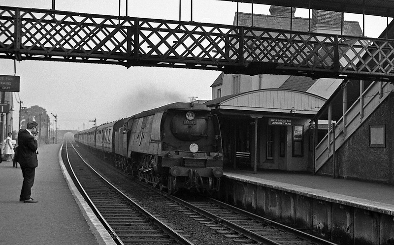 34079 141 Squadron, Brighton-Plymouth, Sidmouth Junction, September 5, 1964.